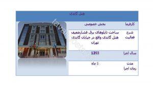 ساخت تابلو برق های فشارضعیف هتل گاندی تهران